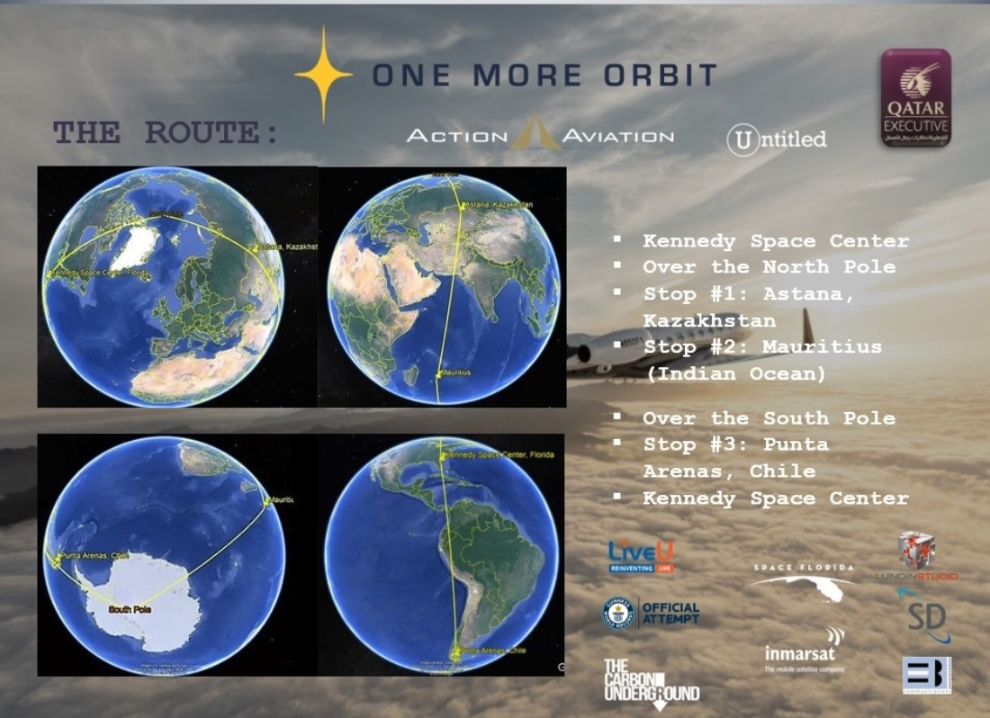 One More Orbit: round-the-world record attempt takes flight