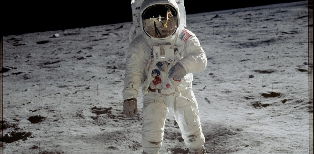 Buzz Aldrin on the moon NASA
