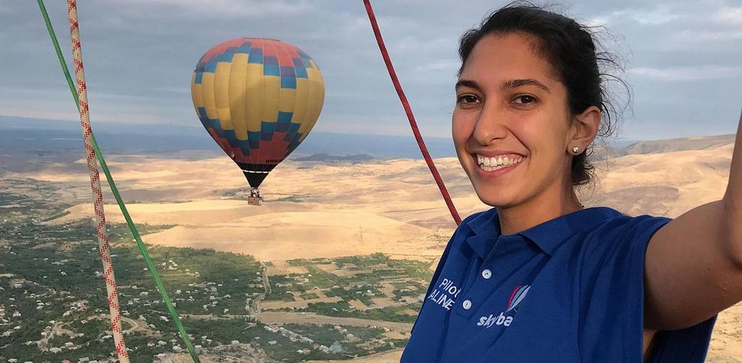 Aline Kalousdian hot air balloon