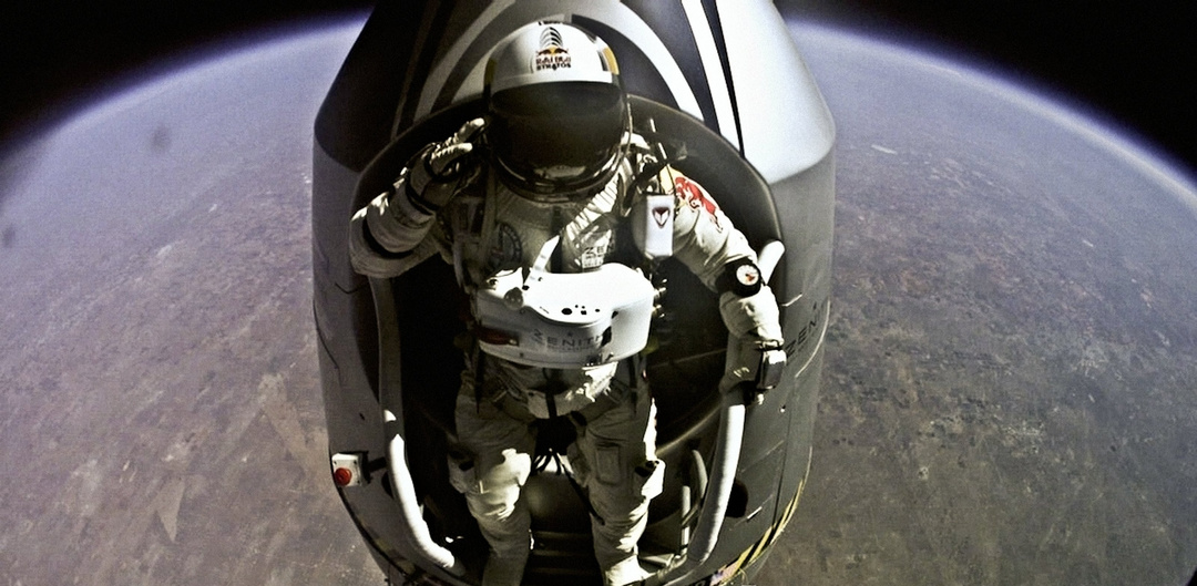 Felix Baumgartner jumps from Space Red Bull Stratos / Red Bull Content Pool