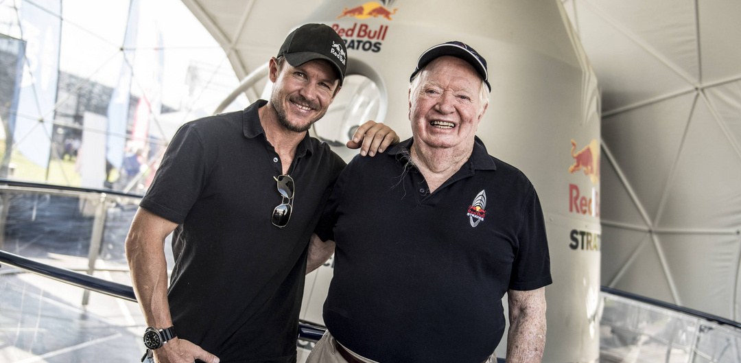 Felix Baumgartner and Joe Kittinger at the Red Bull Air Race World Championship final in Indianapolis, 14 October 2017. Photo: Predrag Vuckovic/Red Bull Content Pool