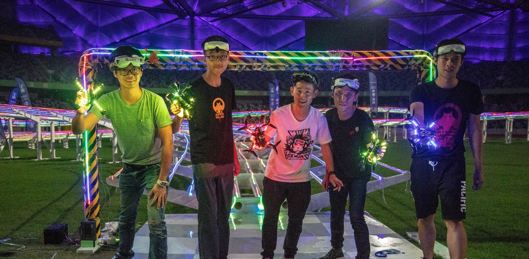 Young FAI Drone Racing World Cup pilots in China
