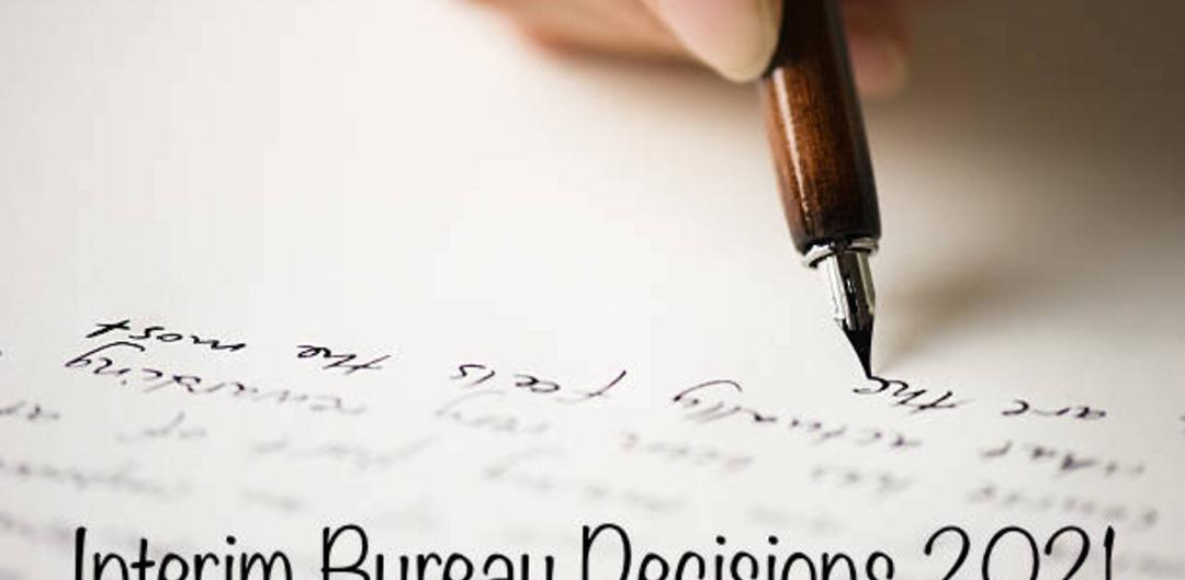 Interim Bureau Decisions 2021
